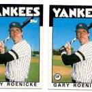Gary Roenicke Trading Card Lot of (2) 1986 Topps Traded #94T Yankees