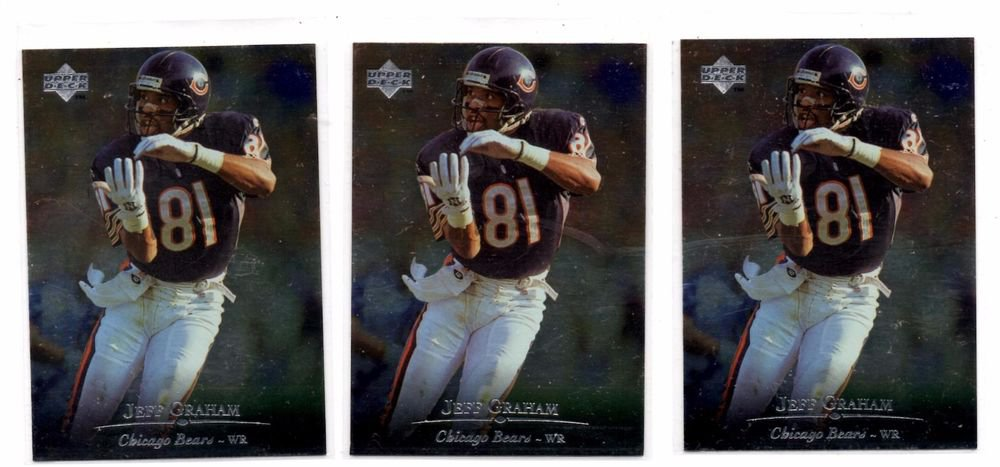 Jeff Graham Trading Card Lot of (3) 1996 Upper Deck Silver #95 Bears