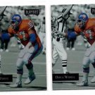 Doug Widell Trading Card Lot of (2) 1992 Playoff #127 Broncos