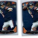 Jay Cutler Trading Card Lot of (2) 2014 Bowman Chrome #59 Bears