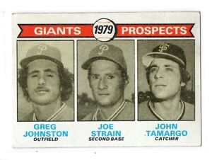 Greg Johnston Joe Strain John Tomargo RC 1979 Topps #726 Giants