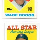 Wade Boggs Trading Card Lot of (2) 1988 Topps #388 Red Sox AS