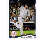 Vernon Wells Trading Card Single 2014 Topps Mini #222 Yankees