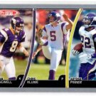 Ryan Longwell Chris Kluwe Artose Pinner Silver 2007 Topps Total #138 Vikings