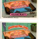 Welcome Matt Muddy Maude Sticker Lot 1986 Topps Garbage Pail Kids 244a 244b