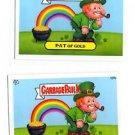 Pat of Gold Lepre Shaun Lot of (2) 2013 Topps Garbage Pail Kids MIni #127a #127b