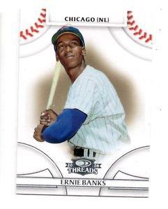 Ernie Banks Trading Card Single 2016 Donruss Threads 15 Cubs