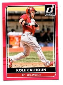 Kole Calhoun Pink Trading Card Single 2016 Donruss #77 Angels