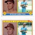Steve Carlton Super Vet Trading Card Lot of (2) 1983 Topps #71 Phillies NMMT