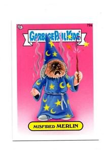 Misfired Merlin Single 2013 Topps Garbage Pail Kids Minis #79a