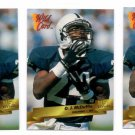 O.J. McDuffie RC Trading Card Lot of (3) 1993 Wild Card #88 Dolphins