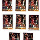 Otis Thrope Trading Card Lot of (6) 1992-93 Topps #19 Rockets