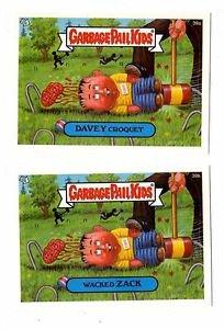 Wacked Zack Davey Croquet A&B Lot 2004 Topps Garbage Pail Kids 39a 39b