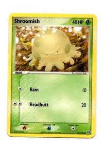 Shroomish Common Trading Card Pokemon EX Emerald #63/106 x1