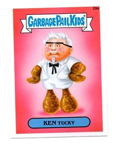 Ken Tucky Single 2015 Topps Garbage Pail Kids #29a
