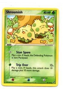 Shroomish Common Trading Card Pokemon EX Deoxys 73/107 x1