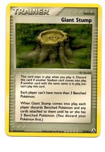 Giant Stump Uncommon Trading Card Pokemon EX Legend Maker #73/92 x1