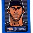 Justin Verlander Blue Sticker Single 2013 Panini Triple Play #19 Tigers