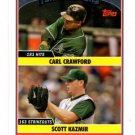 Scott Kazmir Carl Crawford Trading Card Single 2006 Topps Update #UH311