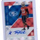 Kelvin Taylor Auto RC Trading Card Single 2016 Panini Unparalleled #175 045/199