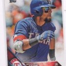 Rougned Odor Trading Card Single 2016 Topps #16 Rangers