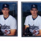 Kevin Brown Trading Card Lot of (2) 2001 Topps Chrome #285 Dodgers