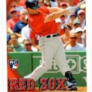 Daniel Nava RC Trading Card Single 2010 Topps Update Series #US192 Red Sox