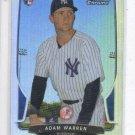 Adam Warren Refractors RC Trading Card Single 2013 Bowman Chrome 81