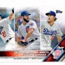 Clayton Kershaw Jake Arrieta Zach Grienke Trading Card 2016 Topps 125