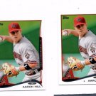 Aaron Hill Trading Card Lot of (2) 2014 Topps Mini #292 Diamondbacks