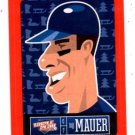 Joe Mauer Red Sticker Trading Card Single 2013 Panini Triple Play 15