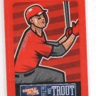 Mike Trout Red Sticker Trading Card Single 2013 Panini #11 Angels