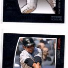 Jorge Posada Trading Card Lot of (2) 2009 Topps Unique #139 Yankees NMT