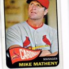 MIke Matheny Trading Card 2014 Topps Heritage #126 Cardinals