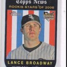 Lance Broadway Trading Card Single 2008 Topps Heritage #119 White Sox