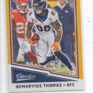 Demaryius Thomas Gold Trading Card 2017 Classics #13 Broncos