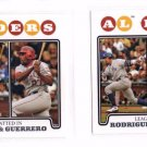 Alex Rodriguez Magglio Ordonez Vladimir Guerrero LL Lot of (2) 2008 Topps #24
