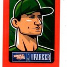 Jarrod Parker Red Sticker Trading Card Single 2013 Panini Triple Play #23