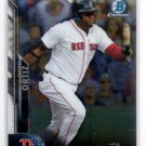 David Ortiz Trading Card Single 2016 Bowman Chrome #10 Red Sox