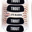 Mike Trout Eye Blacks Sticker Single 2013 Panini Triple Play 2 Angels