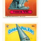 Thick Vic Stoned Sean 1986 Topps Garbage Pail Kids #90a #90b EX+