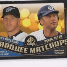 Derek Jeter Roy Halladay Trading Card Single  2008 Upper Deck SP Authentic #MM41