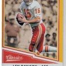 Len Dawson Gold Trading Card 2017 Classics #179 Chiefs