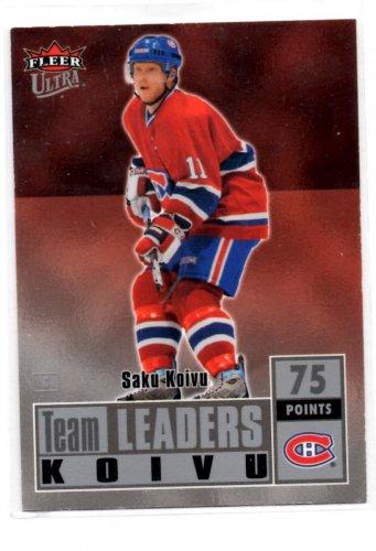 Saku Koivu Trading Card Single 2007-08 Fleer Ultra #TL6 Canadians NMT