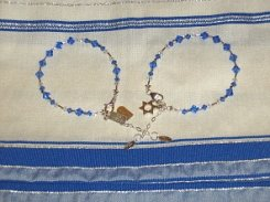 Ten Commandments / Star of David Charm Bracelets