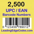 2500 UPC EAN Barcode numbers GS-1 issued - Use on Amazon