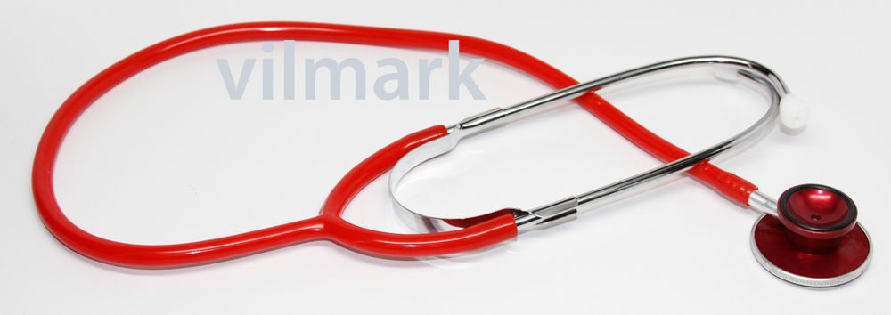 Professional Dual Head Student Doctor Nurse Classical Stethoscope RED B02