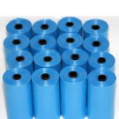 3040 DOG PET WASTE POOP BAGS BLUE REFILL ROLLS WITH PLASTIC CORE DISPENSER FREE