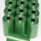 3000 DOG PET WASTE POOP BAGS 150 GREEN REFILL ROLLS WITH CORE