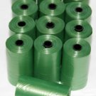 1920 DOG PET WASTE POOP BAGS 96 GREEN REFILL ROLLS WITH CORE